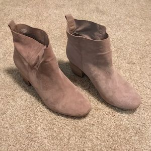 Steve Madden Taupe Suede Harber Ankle Booties